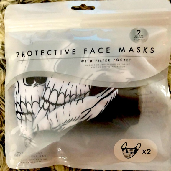 Two Protective Face Masks